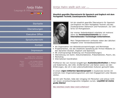 Antje Hahn | Language & Office Consulting